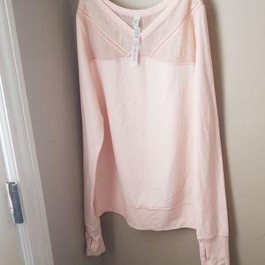 New Lululemon pink mesh top long sleeve